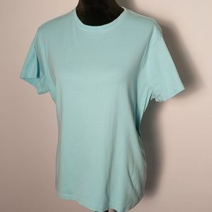 Eddie Bauer Light Blue Short Sleeve Tee Sz XXL
